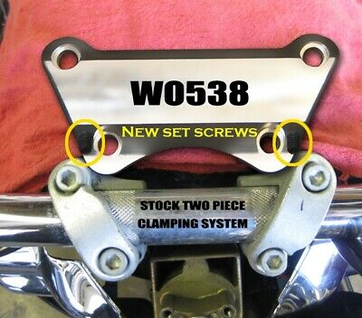Wild One 1 Sure Grip Touring 1 Piece Handlebar Top Clamp Harley FLH/T