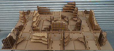 Wargames scenery Full Ruined City Board 28mm Terrain Kit  40K Bolt Action