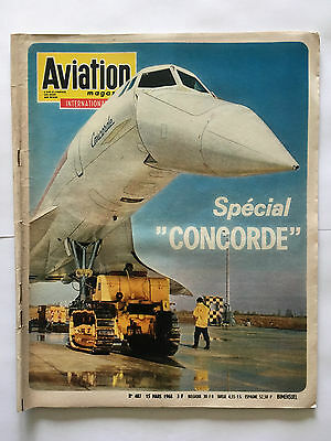 Revue Aviation Magazine N°484 Mars 1968 Special Concorde Avion Aviateur