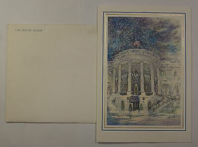 1989 White House Christmas Card President Bush Small Size