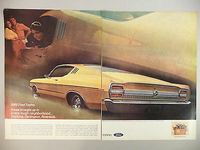 Ford Torino Double-Page PRINT AD - 1968 ~~ 1969 model