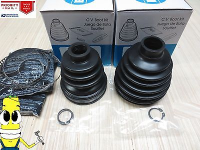 Front Inner /& Outer CV Axle Boot Kit For Nissan Stanza 1986-1992 EMPI Boots