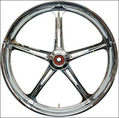 """Eastern Performance Chrome SST 21"""" Front Wheel & Tire Harley 08-17 FLH/T w/ ABS"""