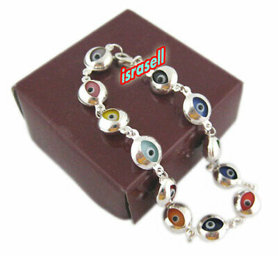 925 STERLING SILVER EVIL EYE BRACELET - Protection Gift - Lucky Charm Jewelry