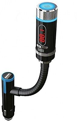 August CR225 - FM Transmitter with Bluetooth and Microphone- In Car