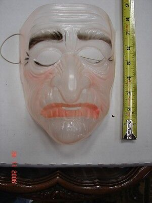 Vintage Clear Plastic Halloween Mask - #A5