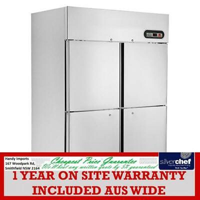 Fed Commercial Tropical Thermaster 4X½ Door Ss Freezer 1000L Upright Suf1000