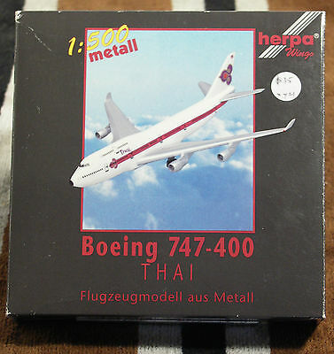 Model – Herpa 1:500 - Ref.No. HER500616 Boeing 747-400 Thai
