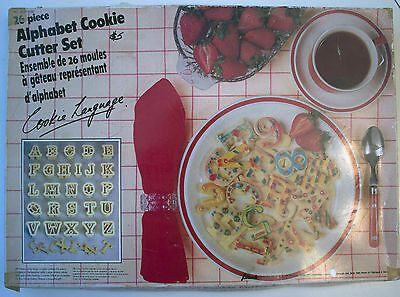 Vintage 1970s Alphabet Cookie Cutter Set - 26pcs