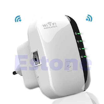 300Mbps Signal Booster Extender Wireless-N AP Range 802.11 Wifi Repeater EU Plug