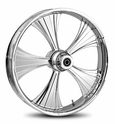 """RC Components Chrome Helo 21"""" Front Wheel & Tire Harley 08-17 FLH/T w/ ABS"""