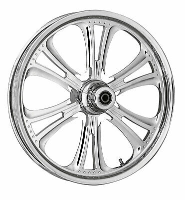 """RC Components Chrome Czar 18"""" Front Wheel & Tire Harley 00-07 FLH/T"""