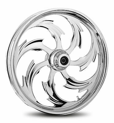 """RC Components Chrome Assault 16"""" Front Wheel & Tire Harley 00-06 FL Softail"""