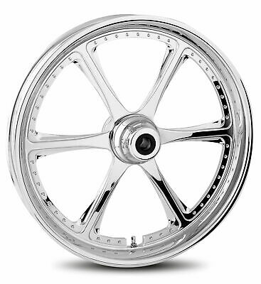 """RC Components Chrome Prowler 21"""" Front Wheel & Tire Harley 00-06 FL Softail"""