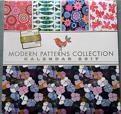 Patterns (Modern Collection) 2017 Square Wall Calendar NEW by OzCorp