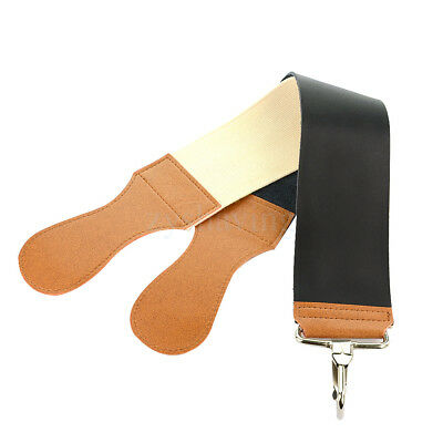 Hot 20 Inch Black Leather + Canvas 2 Layers Straight Razor Sharpener Strop New