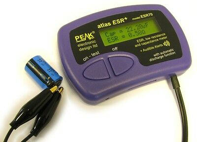 Peak ESR70 Atlas ESR PLUS Capacitor Analyser with audible alerts From Japan