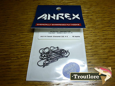 18 x AHREX NS118 #8 NORDIC SALT CLASSIC STREAMER HOOKS NEW FLY TYING MATERIALS