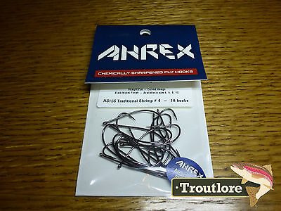 18 x AHREX NS156 #4 NORDIC SALT TRADITIONAL SHRIMP HOOKS NEW FLY TYING MATERIAL