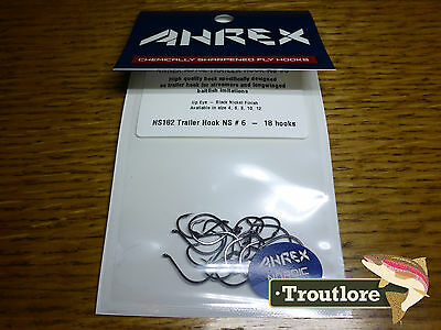 18 x AHREX NS182 #6 NORDIC SALT TRAILER HOOKS NEW FLY TYING MATERIALS