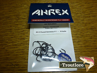 18 x AHREX NS172 #4 NORDIC SALT GAMMERUS SCUD HOOKS NEW FLY TYING MATERIALS