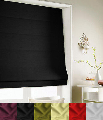 Faux Silk Roman Blind - Fully Lined - 6 Colours - Many Sizes