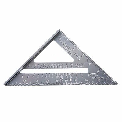 "Aluminum Alloy Rafter Square Speed 7"" Triangle Ruler Protractor Miter Framing"