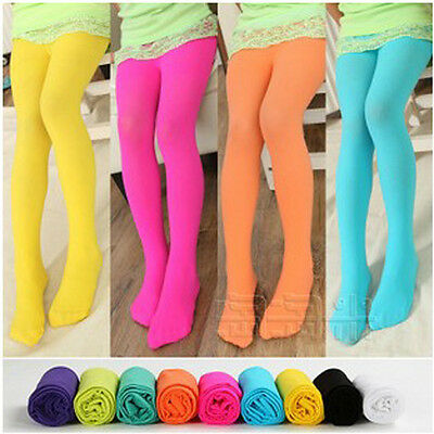Chlidren Baby Kids Girls Tights Opaque Pantyhose Ballet Dance Pants Candy Colors
