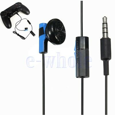 Headset Earbud Microphone Earpiece Headphone For PS4 Controller Dualshock 4 BE