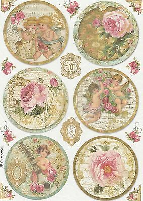 Rice Paper for Decoupage Decopatch Scrapbook Craft Sheet Vintage Angels