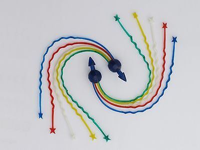 Repro Metalplast Zig Zag Streamers - Blue Ball Multi Colour Tassles MS2.B.RWBGY