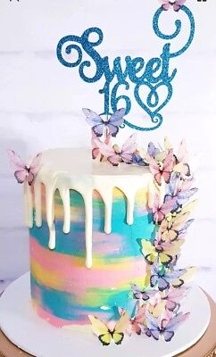 Butterfly Edible Cake Decoration 20pc Fairy Wing Rainbow Party Engagement Sweets