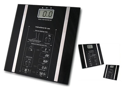 Digital Body Fat Analyser Scales BMI Healthy 150KG Weight Loss Bathroom Scales