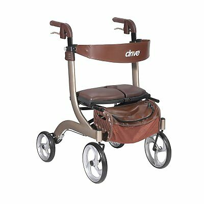 Drive Medical RTL10266CH-HS Nitro Dlx Euro Style Walker Rollator Champagne New