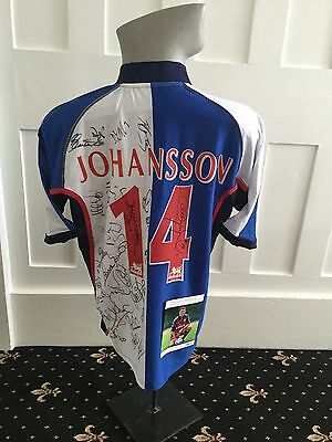 Multi Signed Blackburn Rovers Shirt With Signed Photo Of Nils Eric Johansson