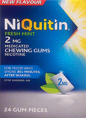 Niquitin CQ Chewing Gum Mint 2mg - 24 Pieces - Exp 11/2016