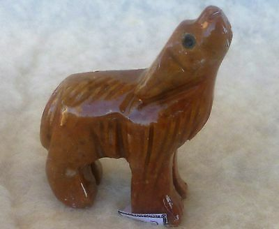Miniature Stone Carving of a Howling COYOTE from Peru