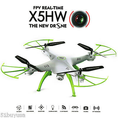 SYMA X5HW WIFI FPV DRONE RC QUADCOPTER 2.4G 4CH 6Asse HEADLESS ELICOTTERO CAMERA