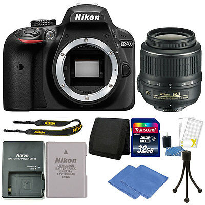 Nikon D3400 24MP Digital SLR Camera + 18-55mm VR  Lens + Great Value Kit