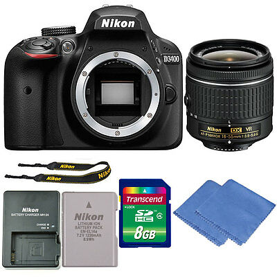 Nikon D3400 24MP Digital SLR Camera with 18-55mm VR Lens + Great Value Kit!