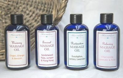 Aromatherapy Massage Oil Gift Set - Relaxing, Sensual, Restorative, Warming