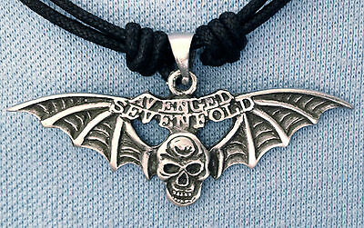 AVENGED SEVENFOLD WINGS pewter pendant 55mm wide BP 062