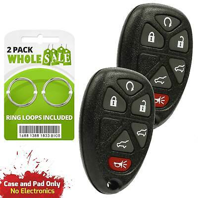 2 Replacement For 2007 2008 2009 2010 Chevy Suburban Key Fob Shell Case
