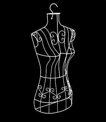 Female Metal Wire Dress Form body form Mannequin with Hook