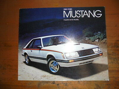 Prospekt Sales Brochure Ford Mustang 1980 Sports car Auto Ghia   автомобиль