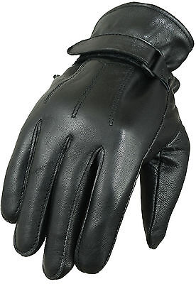 Black Soft Leather Gloves Horse Riding Fashion Mittens