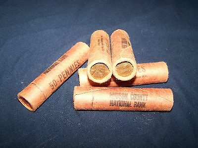 1959 **Original Bank Wrapped ** Uncirculated Lincoln Cent Roll - Very Tight Roll