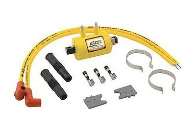 Accel Super Coil Kit Points/Electric Yellow For Harley XL FL FX