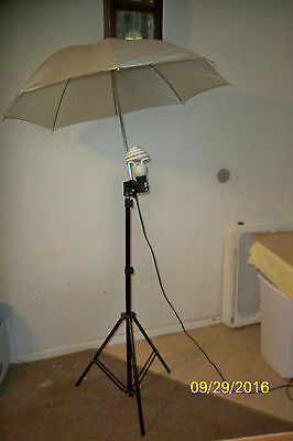 Photo Studio Stand Kit Strobe Light AC Slave Flash with Umbrella Lighting Holder