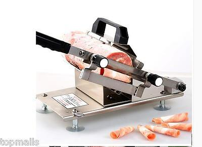 304 Stainless Steel Manual Frozen Meat Slicer Handle Meat Cutting Machine ST200B